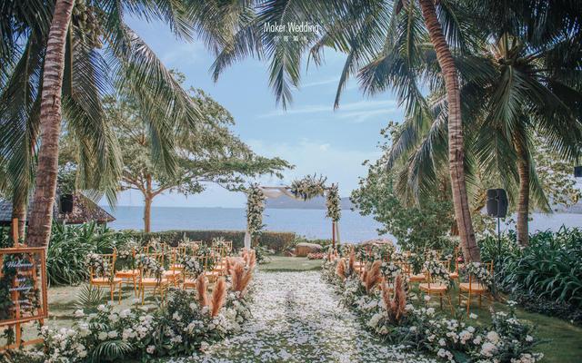 海边草坪婚礼 | 复古森系