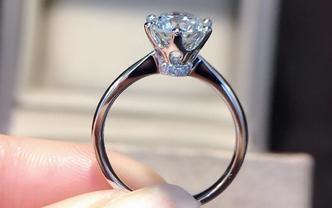 钻石海洋——婚戒——50分六爪皇冠公主款