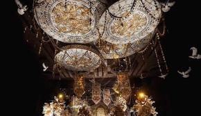 【匠心之作】欧式宫廷奢华红黑暗场婚礼人气婚礼套餐