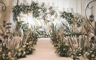 轻语 白绿色系田园风婚礼
