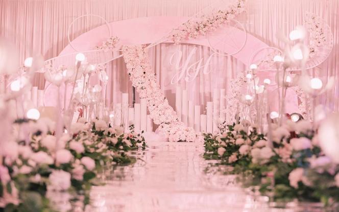 意匠婚礼策划-粉色浪漫婚礼+四大金刚