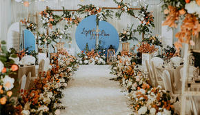 【唯梦婚礼】-橙蓝色小清新婚礼