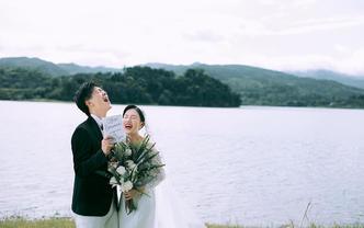 双12预热】小清新婚照+内外景任选预约立享大礼包
