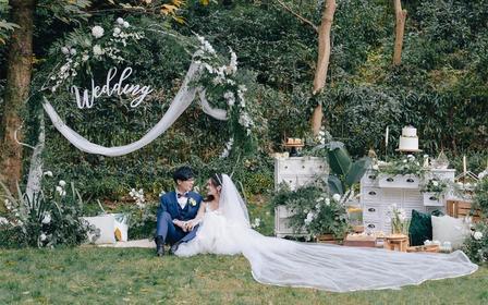 【丽芙】超值绿叶系清新自然户外草坪婚礼