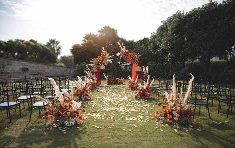 【户外】焦糖色复古小众婚礼