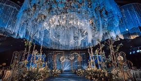 蓝色高端梦幻婚礼(含司仪化妆摄像摄影)