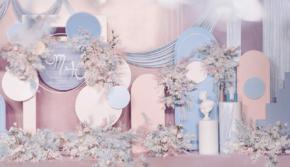 浪漫简约香槟唯美小预算西式纯布置婚礼