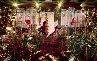 【拾悦婚坊】性价比婚礼纯布置包含舞台吊顶