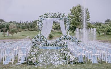 【缤洛婚礼】清新蓝色户外《初夏》