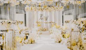 KD婚礼定制-香槟色撞柠檬黄质感定制婚礼