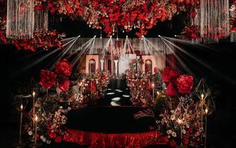 梦悦婚礼 橙红色系婚礼
