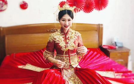 网红款 中式绣禾 百褶裙 铺床