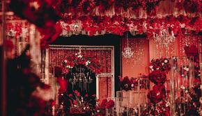 20桌小型饱满喜来登红金红黑大气唯美网红婚礼