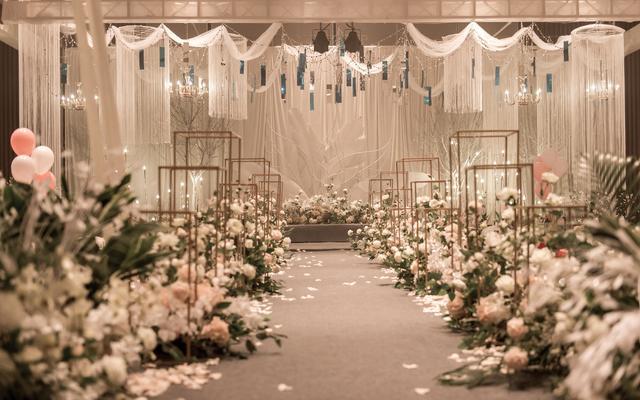 韩式小清新香槟色婚礼一路有你婚礼策划