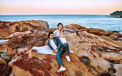 [画面感・气势恢宏]婚纱必拍——东北海岸南雅奇石