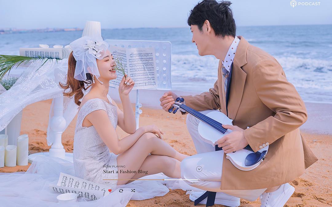 【一价全包】海景婚纱照+婚纱礼服+婚礼跟妆