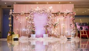 小预算室内唯美浪漫樱花系列婚礼