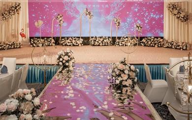 皇冠酒店温馨小清新小预算高性价比粉色婚礼
