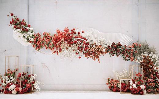 【爱度婚礼】极简风格泰式红白对比色婚礼—秋色婚礼