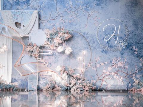 【金典幸福】勿忘草 婚礼现场布置+ 灯光