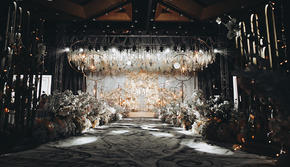 欧式香槟色简约大气宫廷婚礼