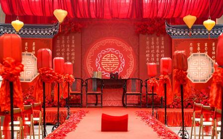 古摄影红绣球婚礼会馆----