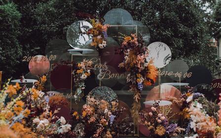 【慕兮】颐和公馆 户外婚礼 秋色 创意铁艺花艺