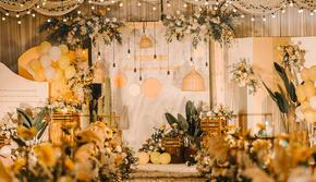 【忆拾光】别样时光橙黄色系小清新室内婚礼