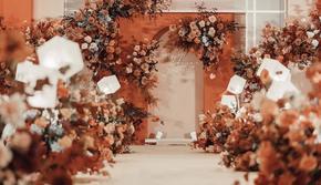 《爱情回归线》珊瑚橙简约室内婚礼