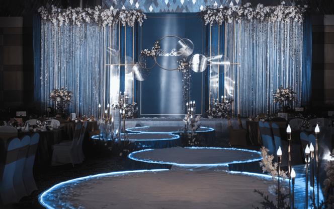 【五厘米婚礼】——蓝色极简主义婚礼