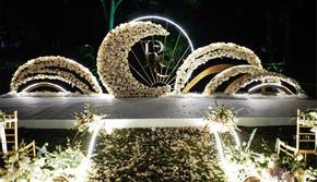 婚礼现场布置+海边草坪超值套餐12888元全包