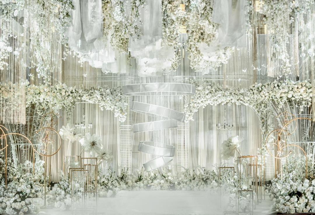 呈幸婚礼-梦幻香槟色室内婚礼-绽放