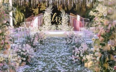 飞凌婚礼丨粉色的小紧张