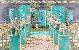 【墨韵】新中式户外婚礼/绿蓝蒂凡尼/策划
