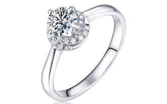 钻石海洋—拥护—50分四爪群镶求婚结婚钻戒