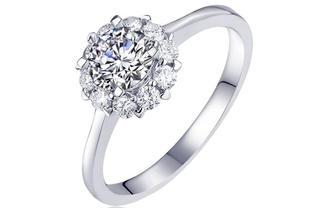 钻石海洋—璀璨—50分群镶求婚结婚钻戒