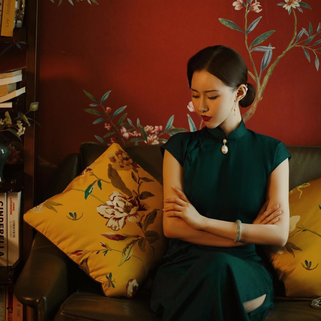 文艺复古古风写真 汉服+旗袍 自然古建筑组合拍摄