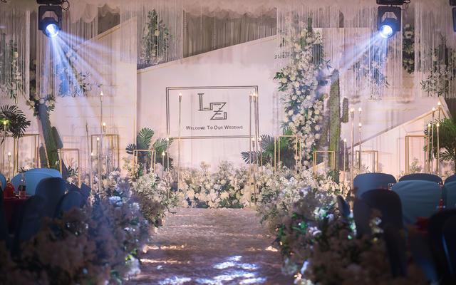 白绿系 简约婚礼主题 清新 浪漫
