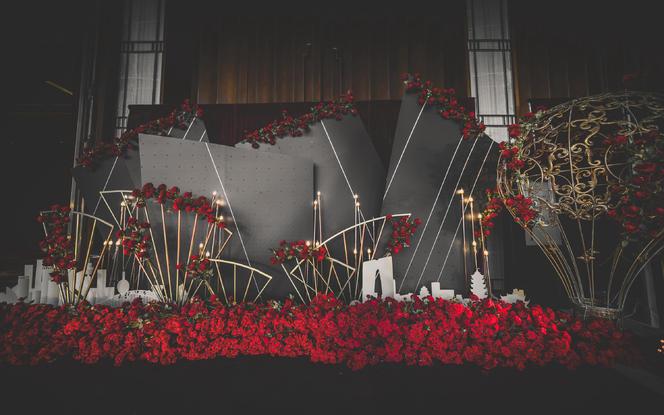 【忆江南】红黑色系主题婚礼