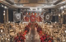 韩式梦幻红色婚礼策划包括现场布置和人员