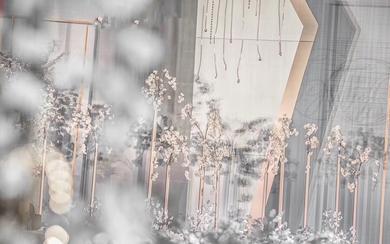 灰 蓝 + 金  水晶恋