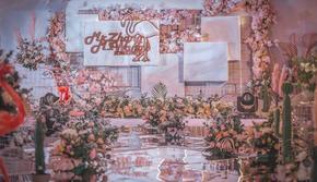简约清新、甜蜜唯美,一场浪漫的粉色婚礼