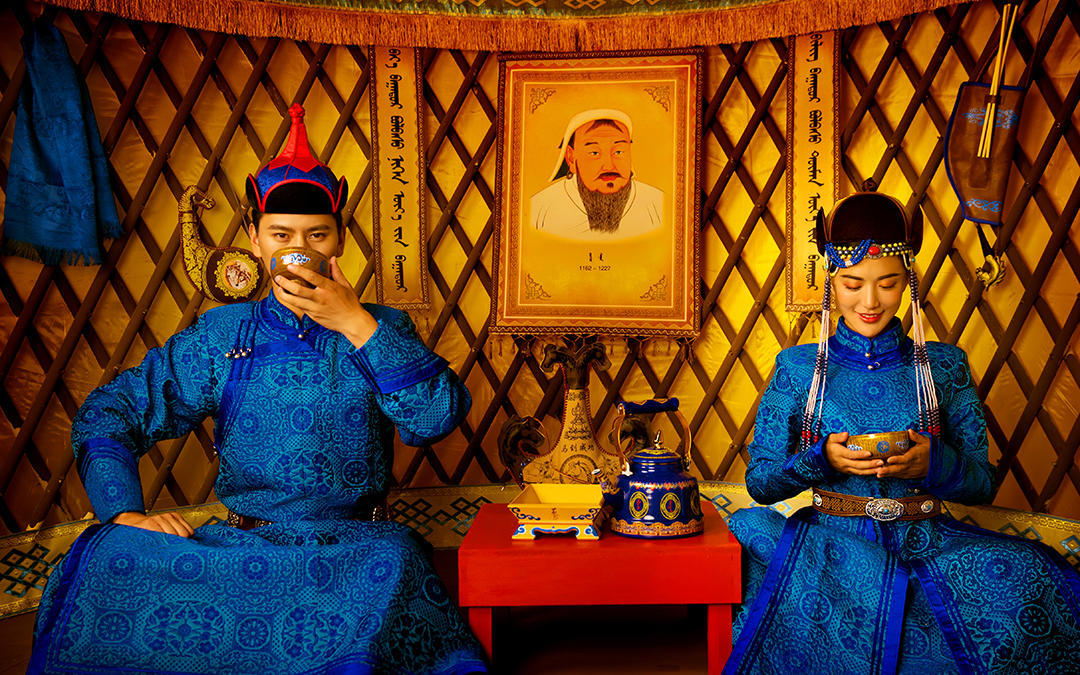 【蒙古族特色婚纱照】咨询就送按摩足浴桶