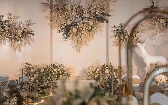一价全包】简约又美的室内婚礼| 诗缔婚礼
