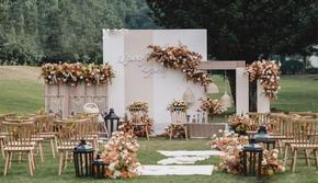 木木婚礼《枫之谷》黄色系户外婚礼