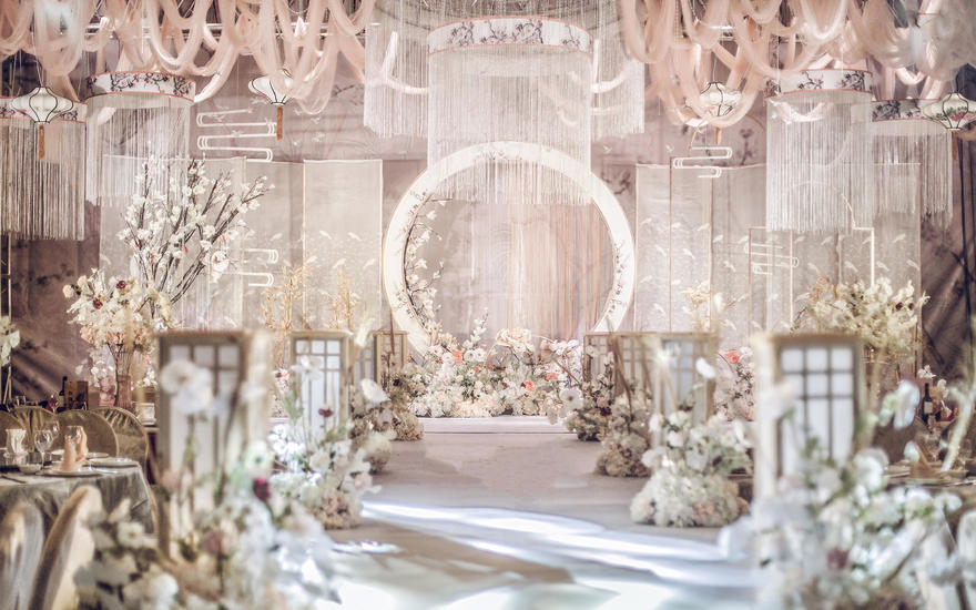 佛山婚礼布置《香槟白新中式婚礼》