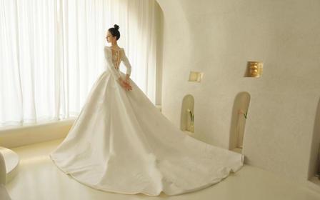 【洛高定 洛丽塔】拖尾主婚纱8件套