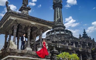 爱旅拍巴厘岛•客照欣赏•黑塔建筑博物馆•林&闫