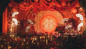 中国风典雅婚礼/红金色的浪漫/冬季限定/长辈超爱