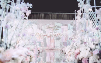 【鲜布置】+【四大金刚】网红轻樱婚礼